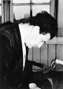 Israël Muller aan het werk in kamp Westerbork.
