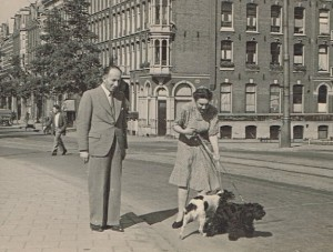 Elie en Djumka in Amsterdam, 1947.