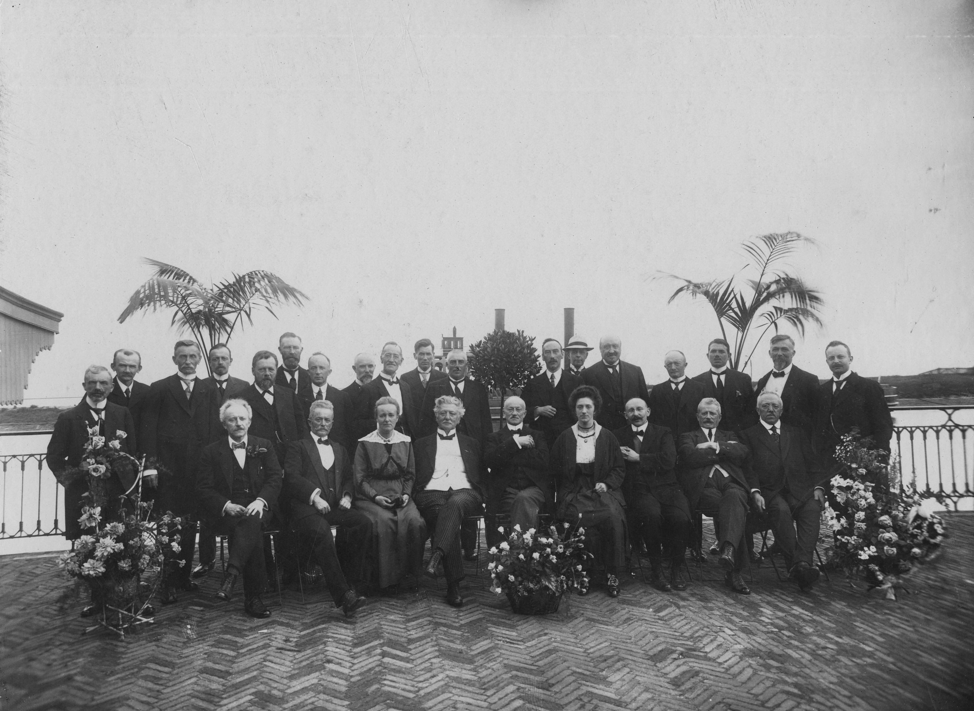 Jubileumfeest 50 jaar Enkhuizer Courant, 1920. Archief Kroniek van Enkhuizen.