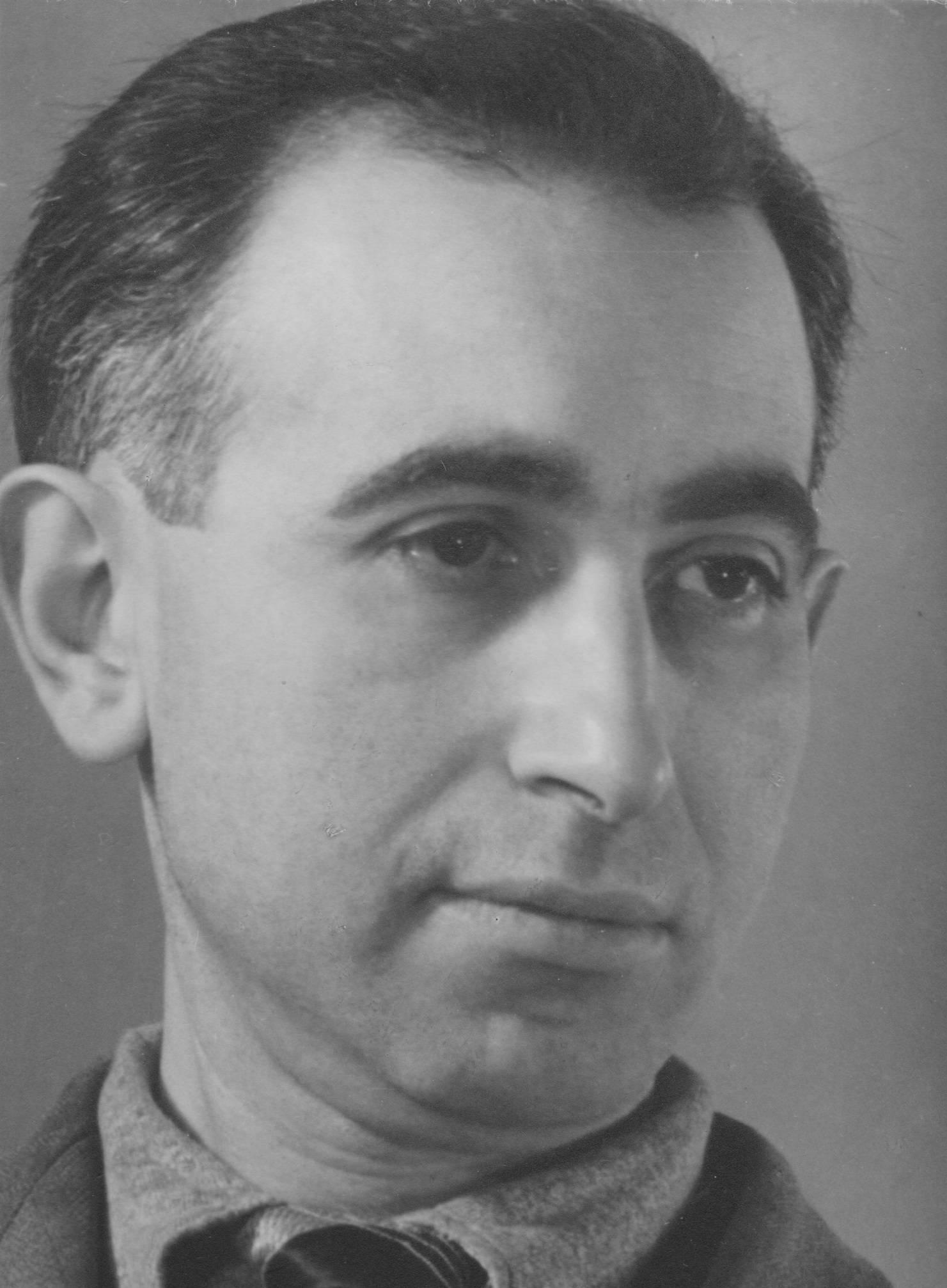Kurt Noah op 28 januari 1945 in kamp Westerbork.