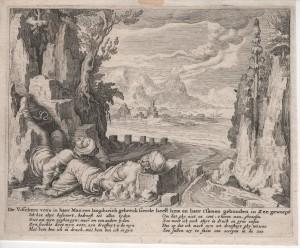 De gravure uit 1567.