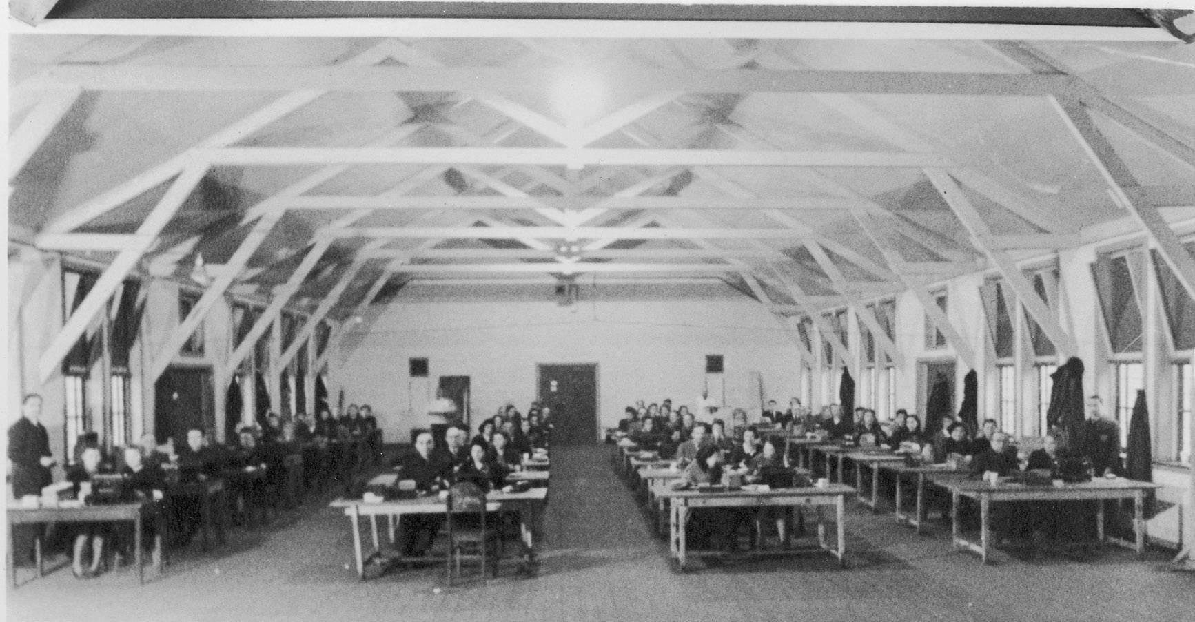De registratie in kamp Westerbork, 1943