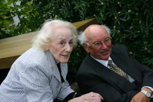 Carolien en Jo in 2008.
