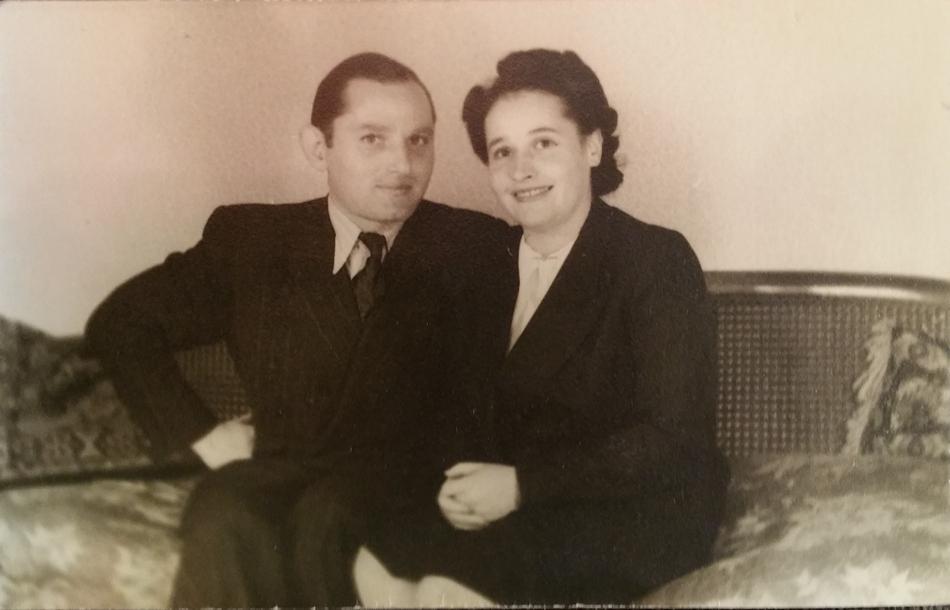 Erich en Martha Jonas bij hun verloving.