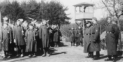Kamp Amersfoort tijdens de Tweede Wereldoorlog. Collectie Nationaal Monument Kamp Amersfoort.