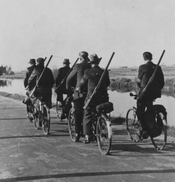 Landwachters in Drenthe, 1944.
