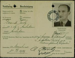 Joodse Raad verklaring van Jacob Barend.