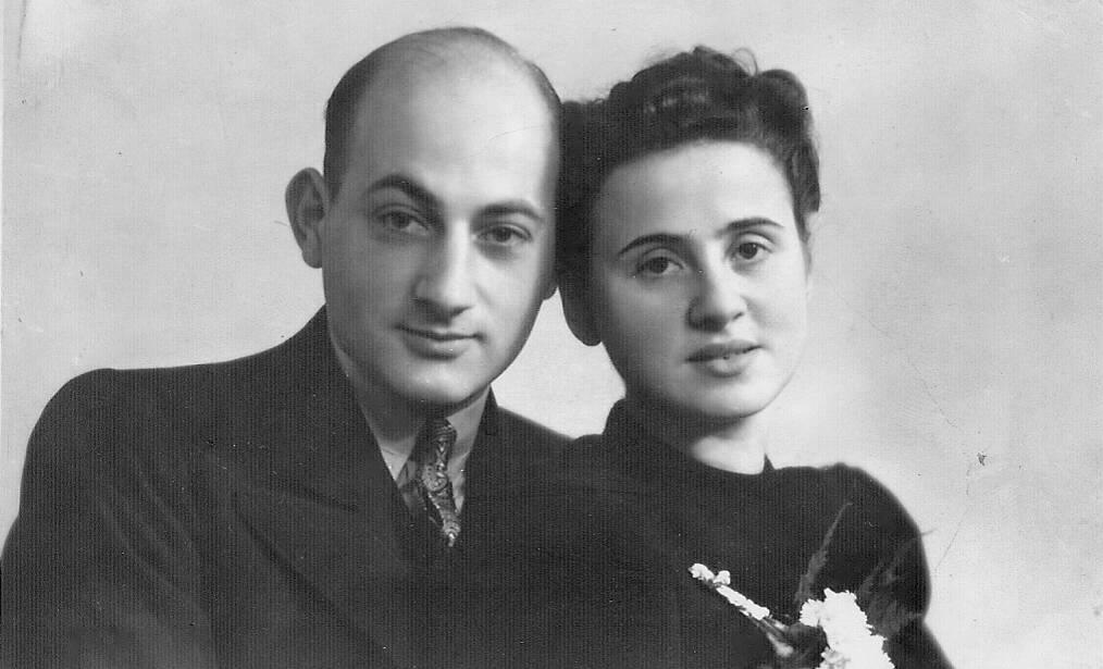 Lé Vos met zijn vrouw.