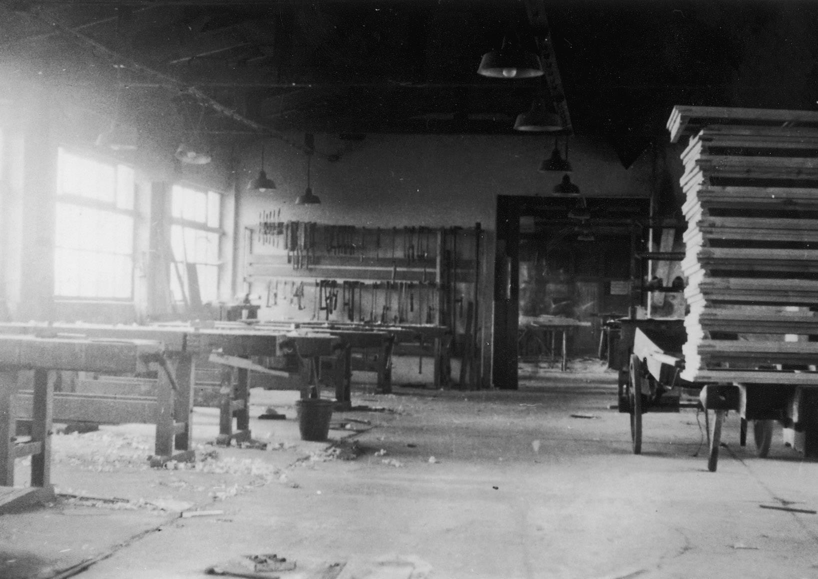 De timmermanswerkplaats van kamp Westerbork.