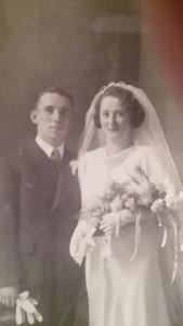Huwelijksfoto Frans Polak en Hendrika Viool.