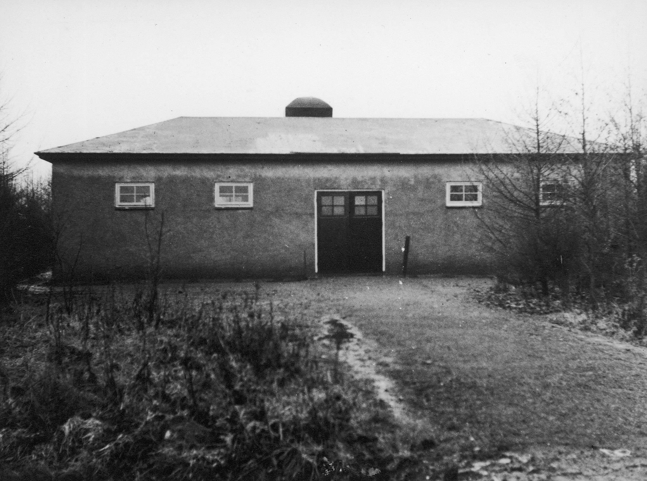 Het crematorium van kamp Westerbork.