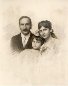 1918. Felix, Marie en Lisbeth Oestreicher.