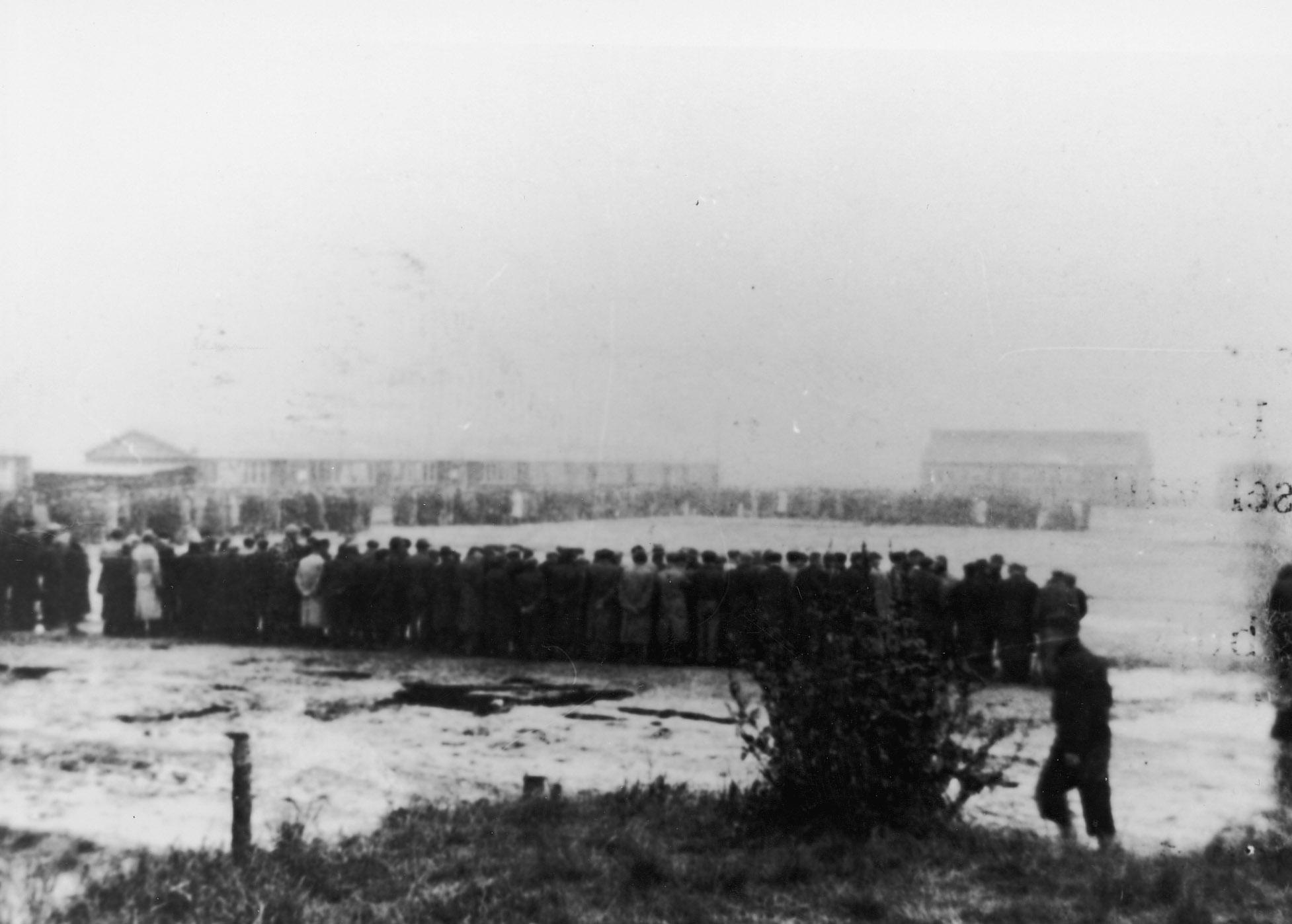 Aankomst in kamp Westerbork.