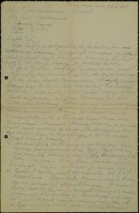 Een gedeelte van een brief, geschreven door Barend aan zijn vrouw vlak na de bevrijding.