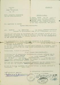 Verklaring van Barend uit 1945.