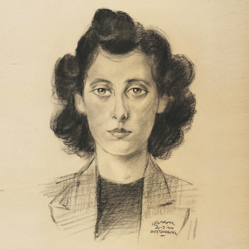 Liesel Heynemann door Leo Kok.