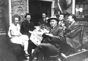 De familie van Oosten, vlak voor de oorlog.