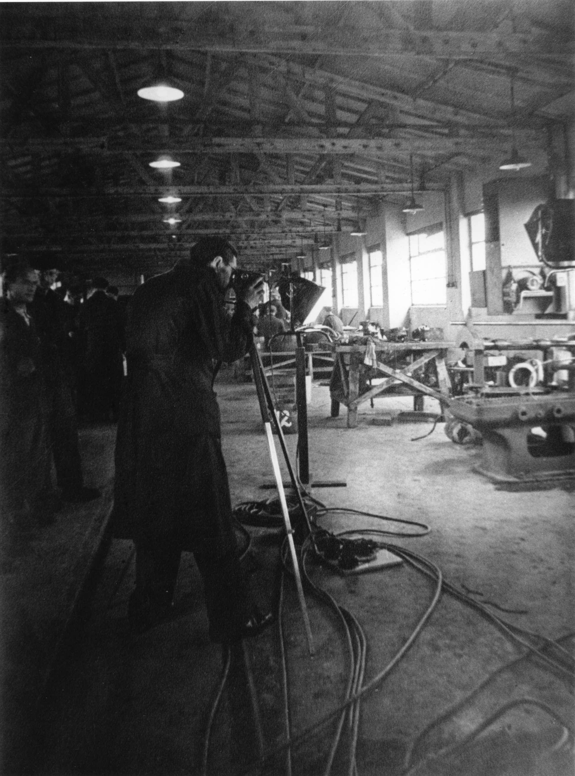 Breslauer en Loeb aan het filmen voor de Westerborkfilm.