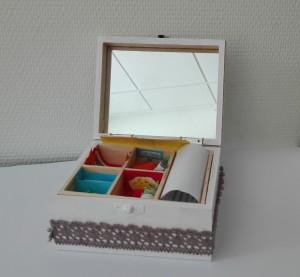 Het kistje van Maurits en Bella Zondervan zoals gemaakt door Wouter en Hendriëtte van het Ubbo Emmius.