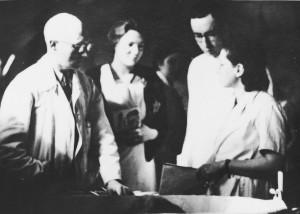 Dokters en verpleegsters in kamp Westerbork.