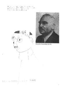 Een tekening van Alexander Roozendaal.