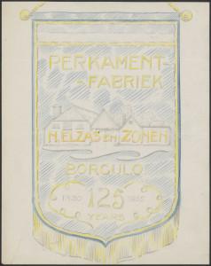Perkament van de firma N. Elzas en Zonen.