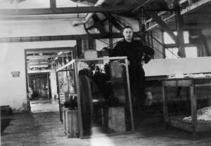 De wasserij van kamp Westerbork, vlak na de bevrijding.