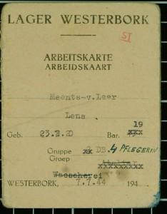 Arbeidskaart van Lena Meents.