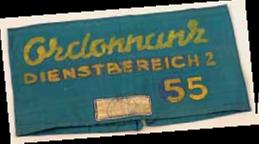 Ordonnansen-band uit kamp Westerbork.