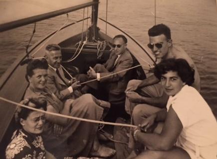 De familie Bohemen na de oorlog.