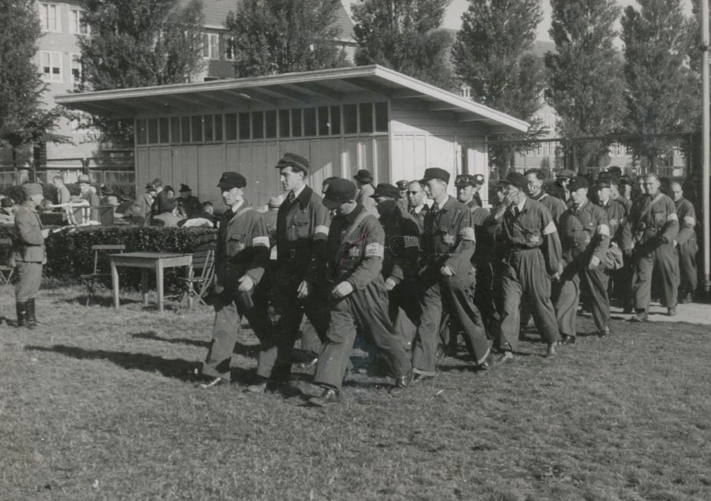De Joodse Ordedienst van kamp Westerbork.