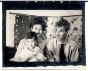 Isidor, Anneke met één van hun kinderen.