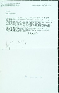 Kurt Schlesinger wordt aangesteld bij het emigratiebureau, 1940.