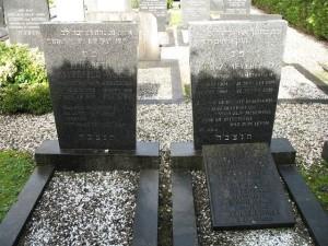 De grafstenen van het echtpaar Meyerfeld-Wolf.